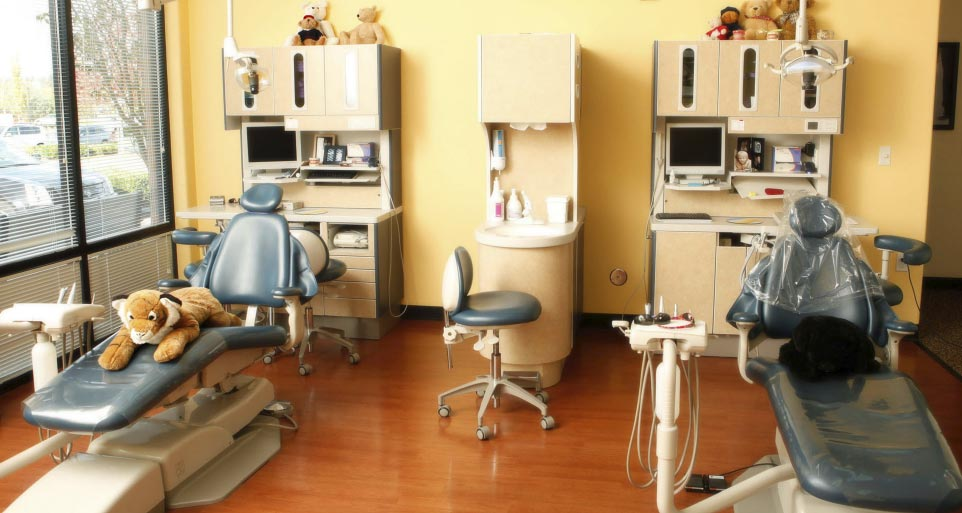 Dental Office with Stuffed Tiger
